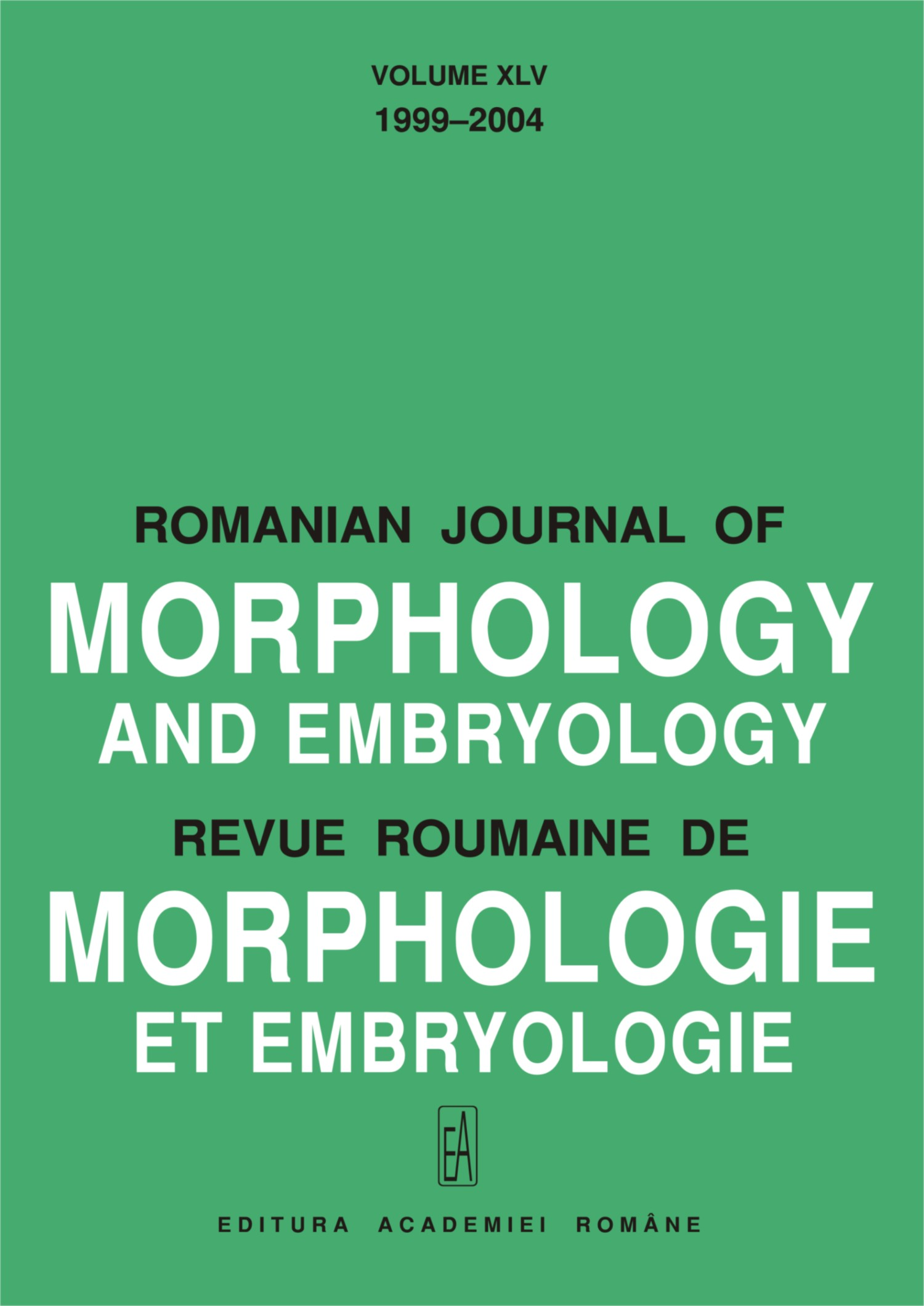 Romanian Journal of Morphology and Embryology, vol. 45 no. CI, 2004