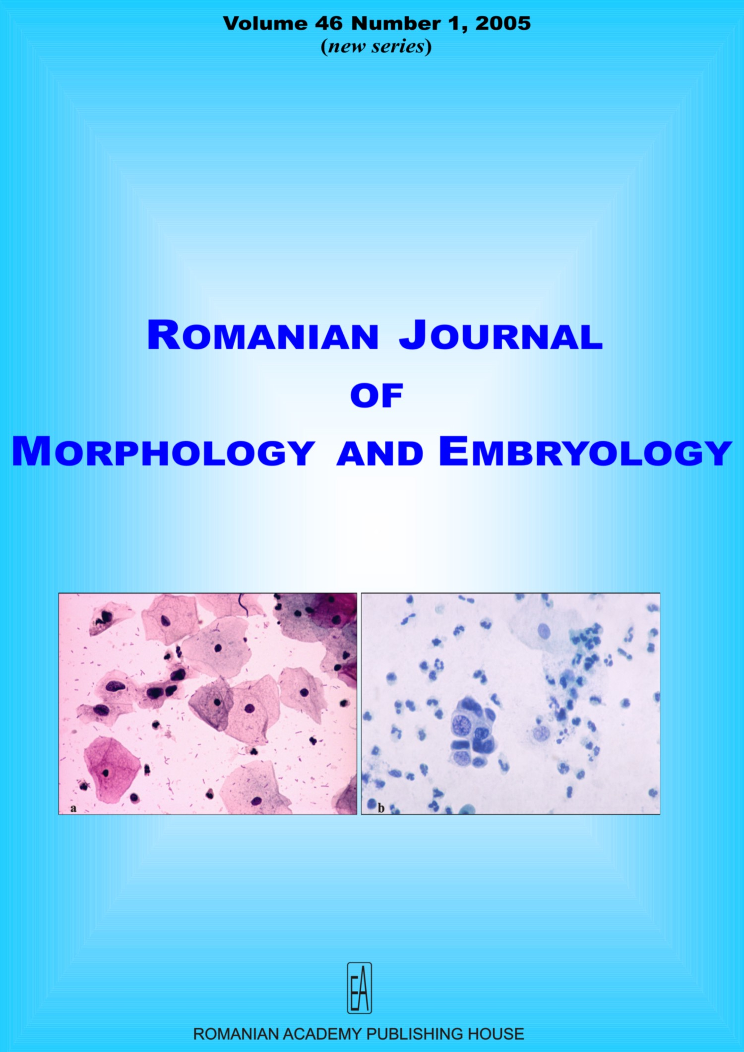 Romanian Journal of Morphology and Embryology, vol. 46 no. 1, 2005