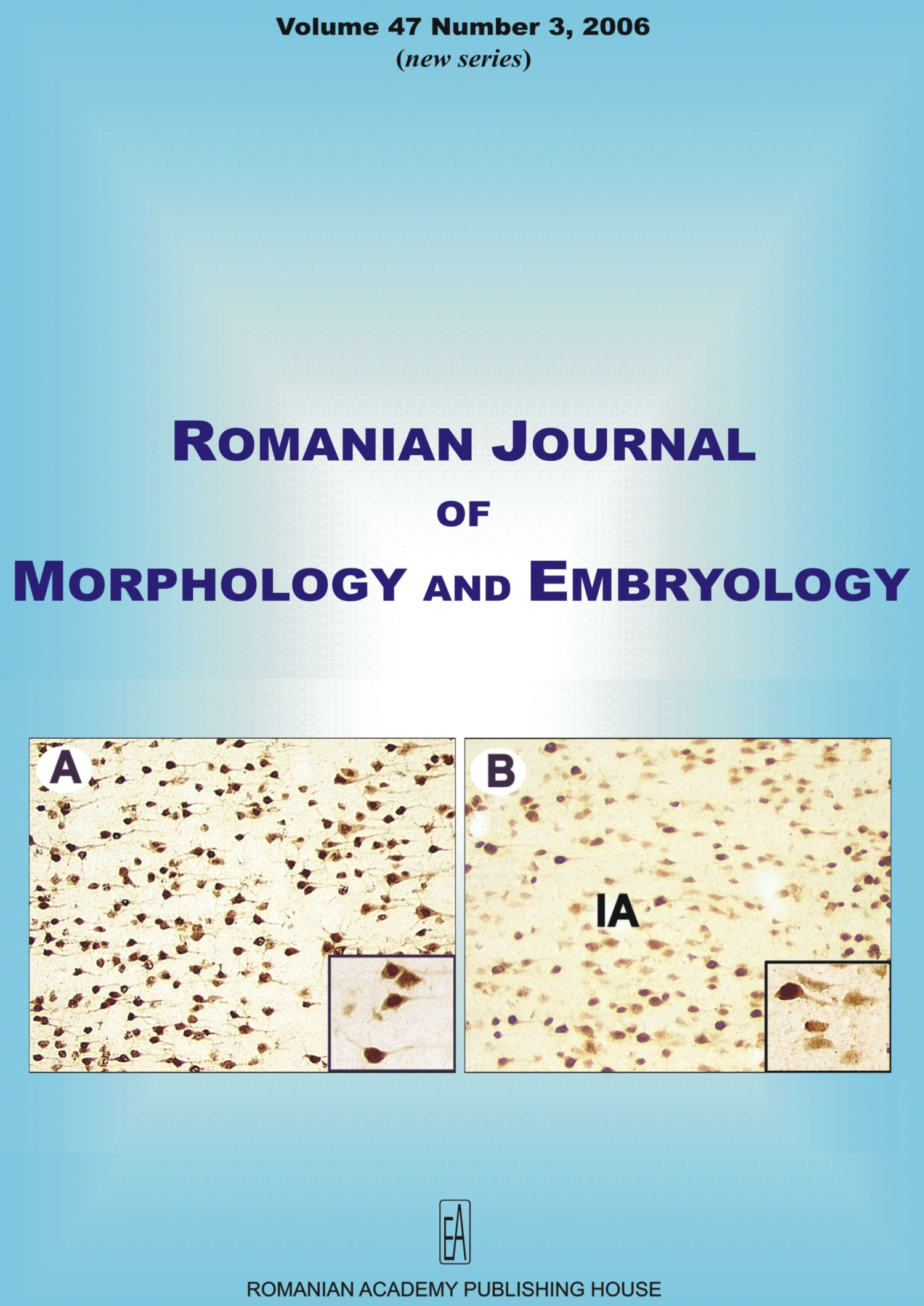 Romanian Journal of Morphology and Embryology, vol. 47 no. 3, 2006