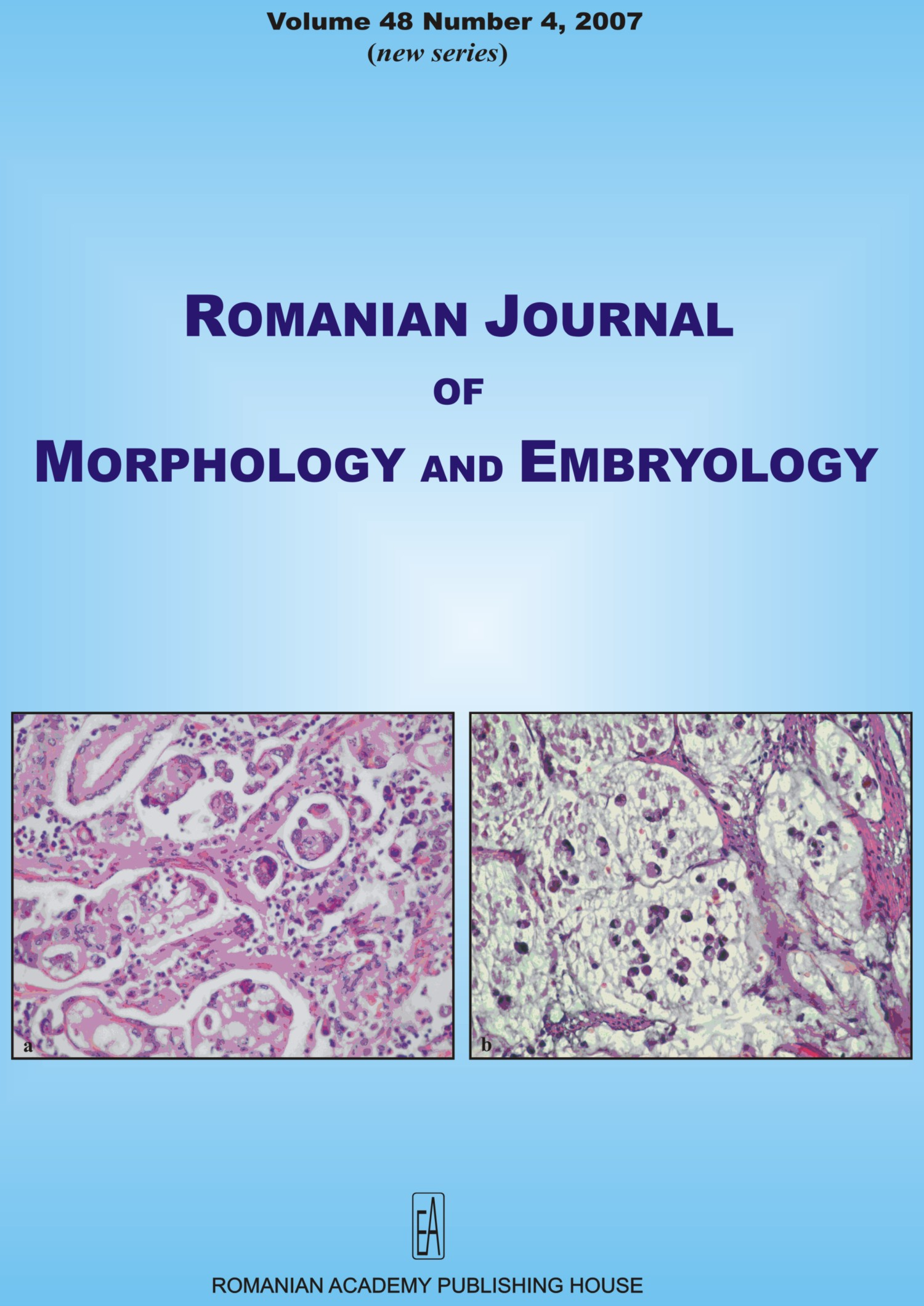 Romanian Journal of Morphology and Embryology, vol. 48 no. 4, 2007