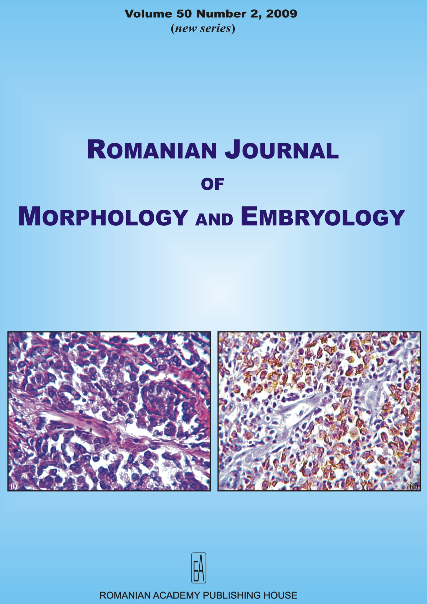 Romanian Journal of Morphology and Embryology, vol. 50 no. 2, 2009