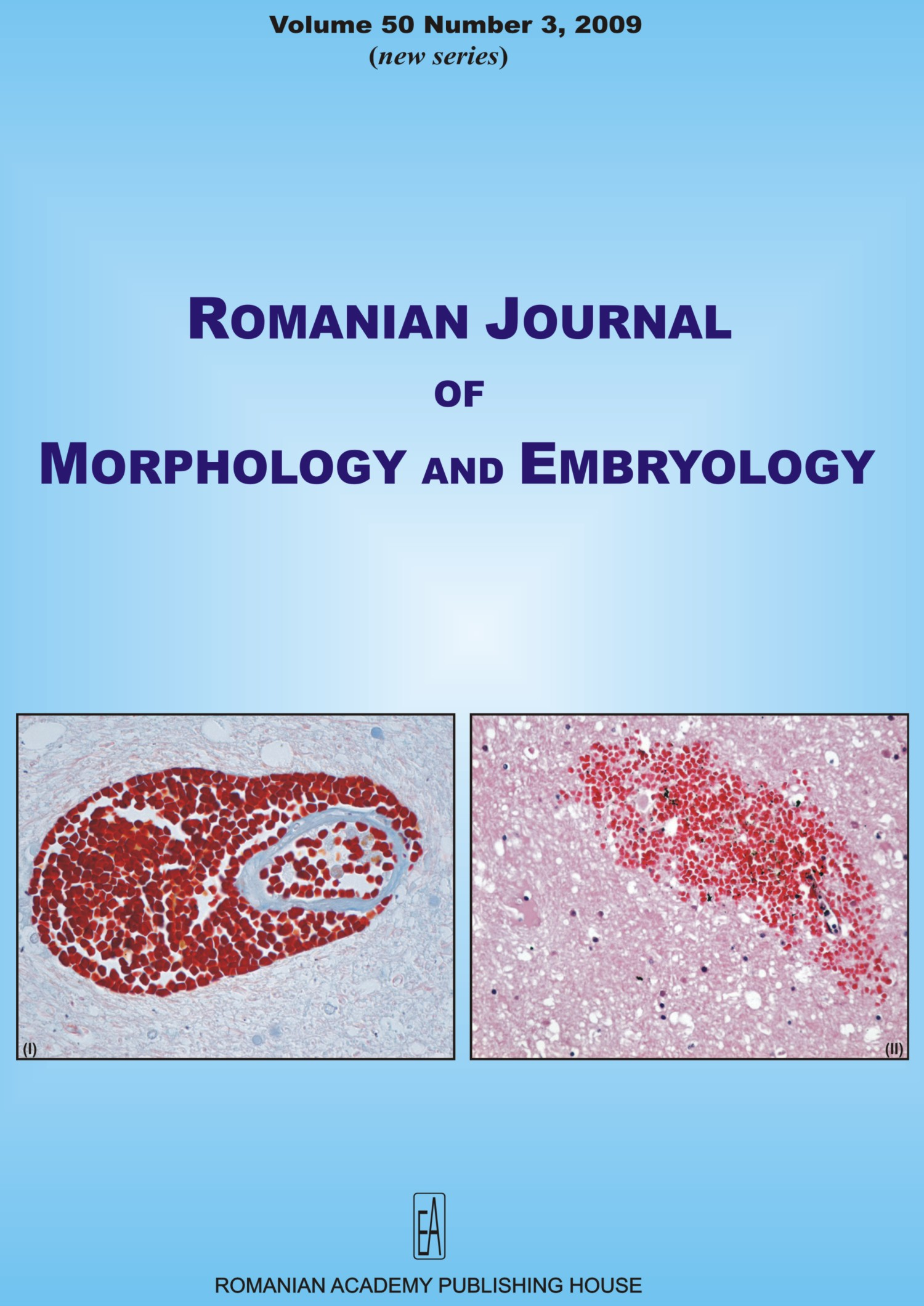 Romanian Journal of Morphology and Embryology, vol. 50 no. 3, 2009