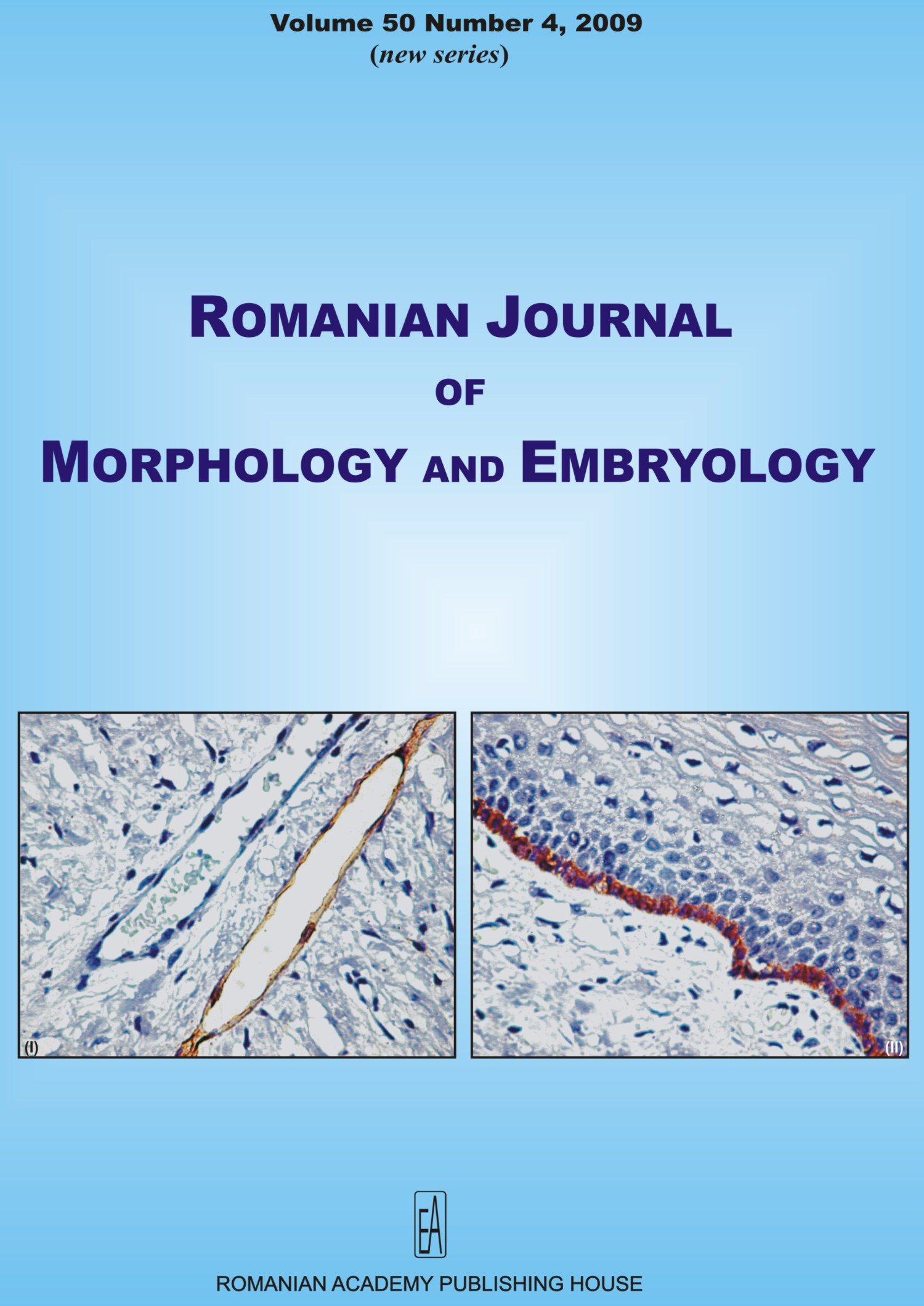 Romanian Journal of Morphology and Embryology, vol. 50 no. 4, 2009