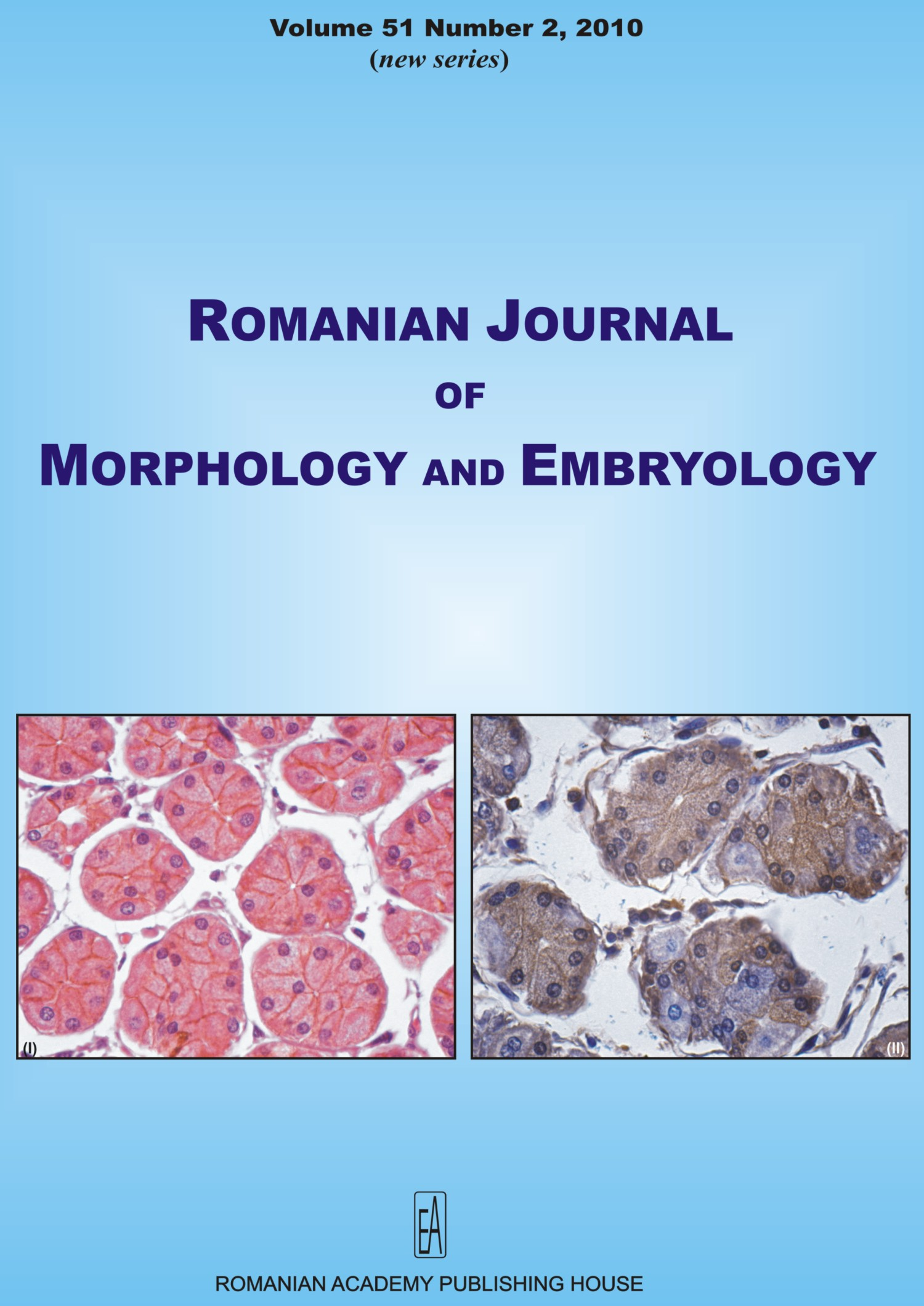 Romanian Journal of Morphology and Embryology, vol. 51 no. 2, 2010