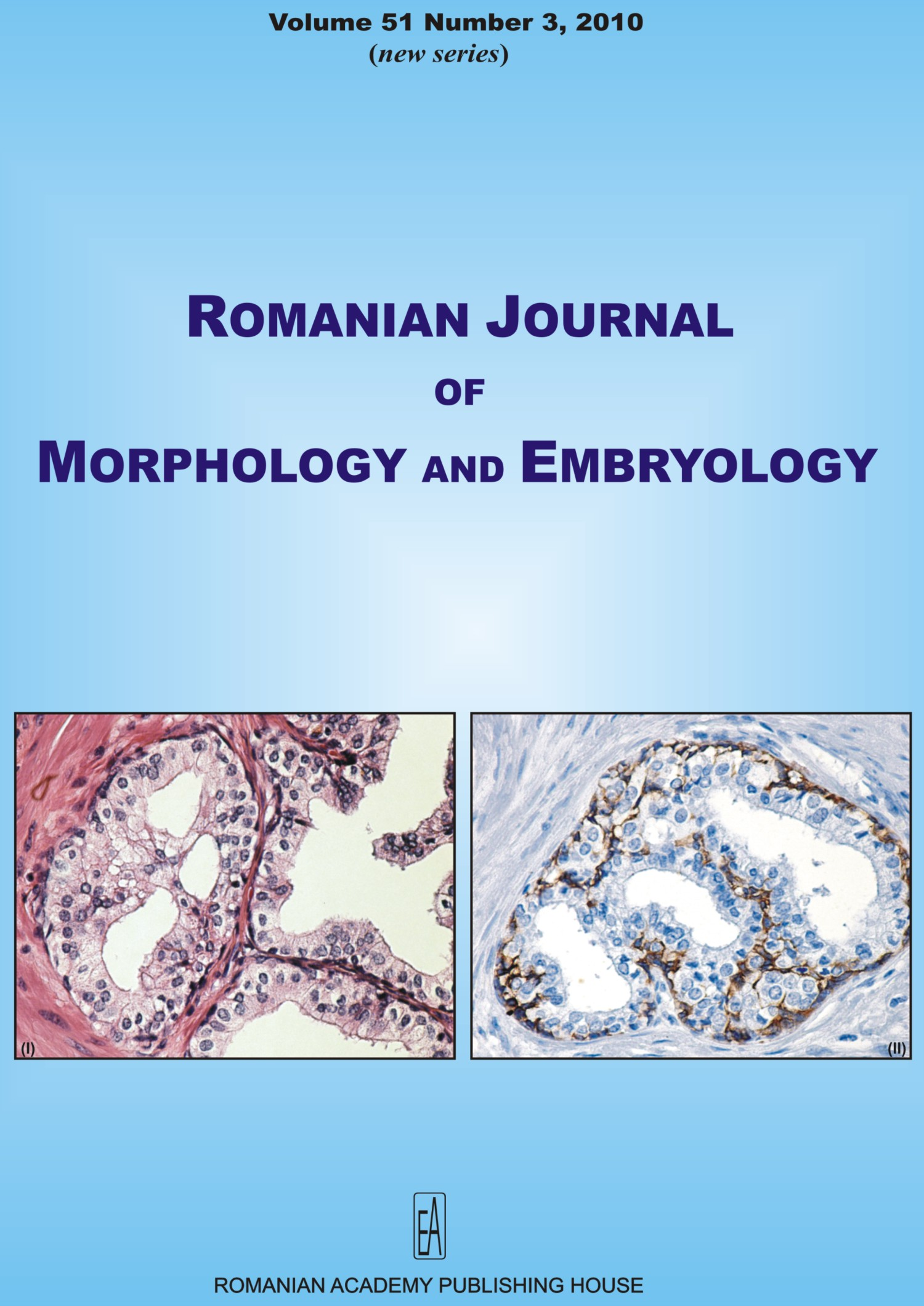 Romanian Journal of Morphology and Embryology, vol. 51 no. 3, 2010
