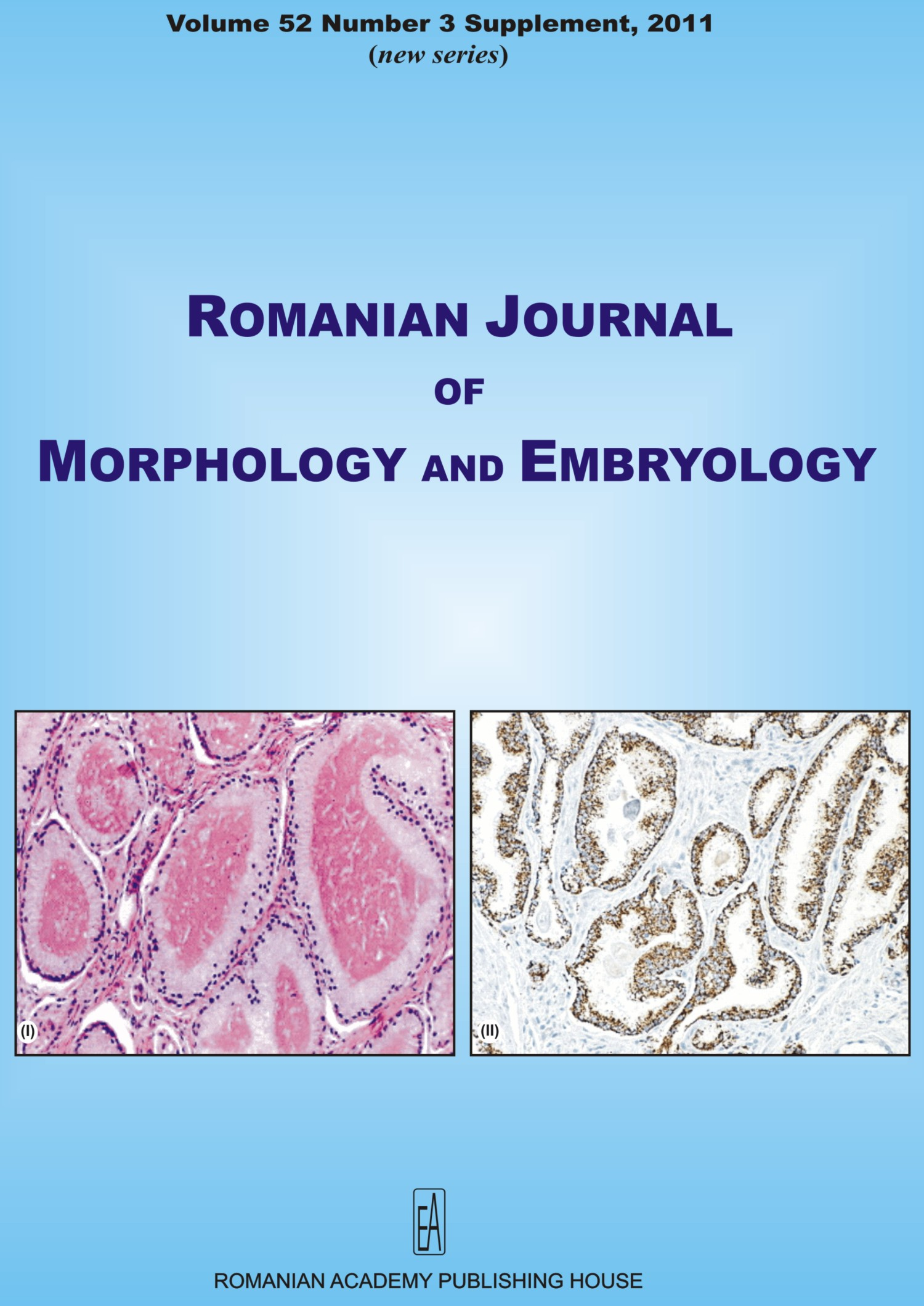 Romanian Journal of Morphology and Embryology, vol. 52 no. 3Suppl, 2011