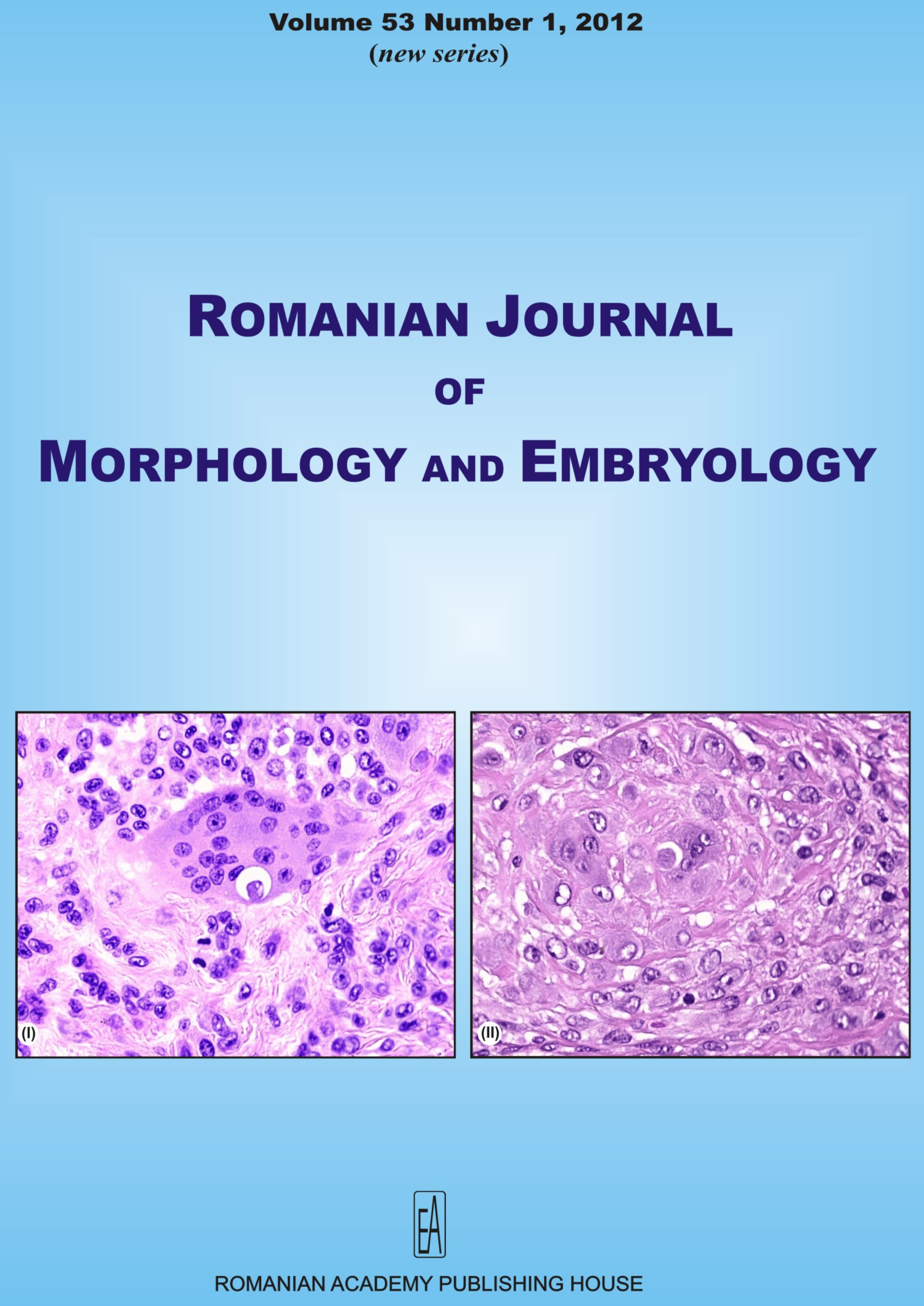 Romanian Journal of Morphology and Embryology, vol. 53 no. 1, 2012