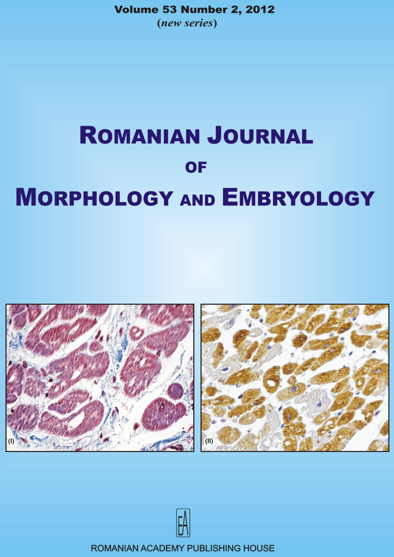 Romanian Journal of Morphology and Embryology, vol. 53 no. 2, 2012