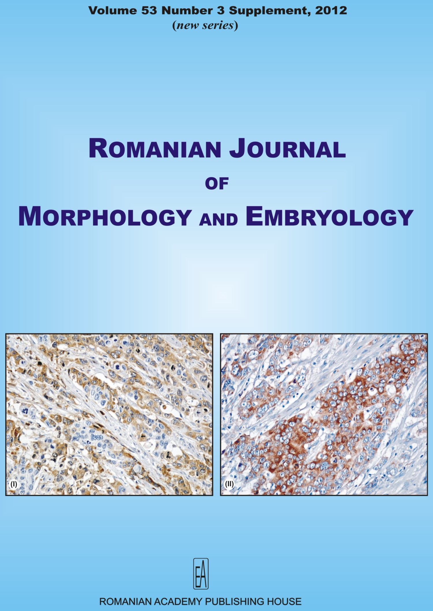 Romanian Journal of Morphology and Embryology, vol. 53 no. 3Suppl, 2012