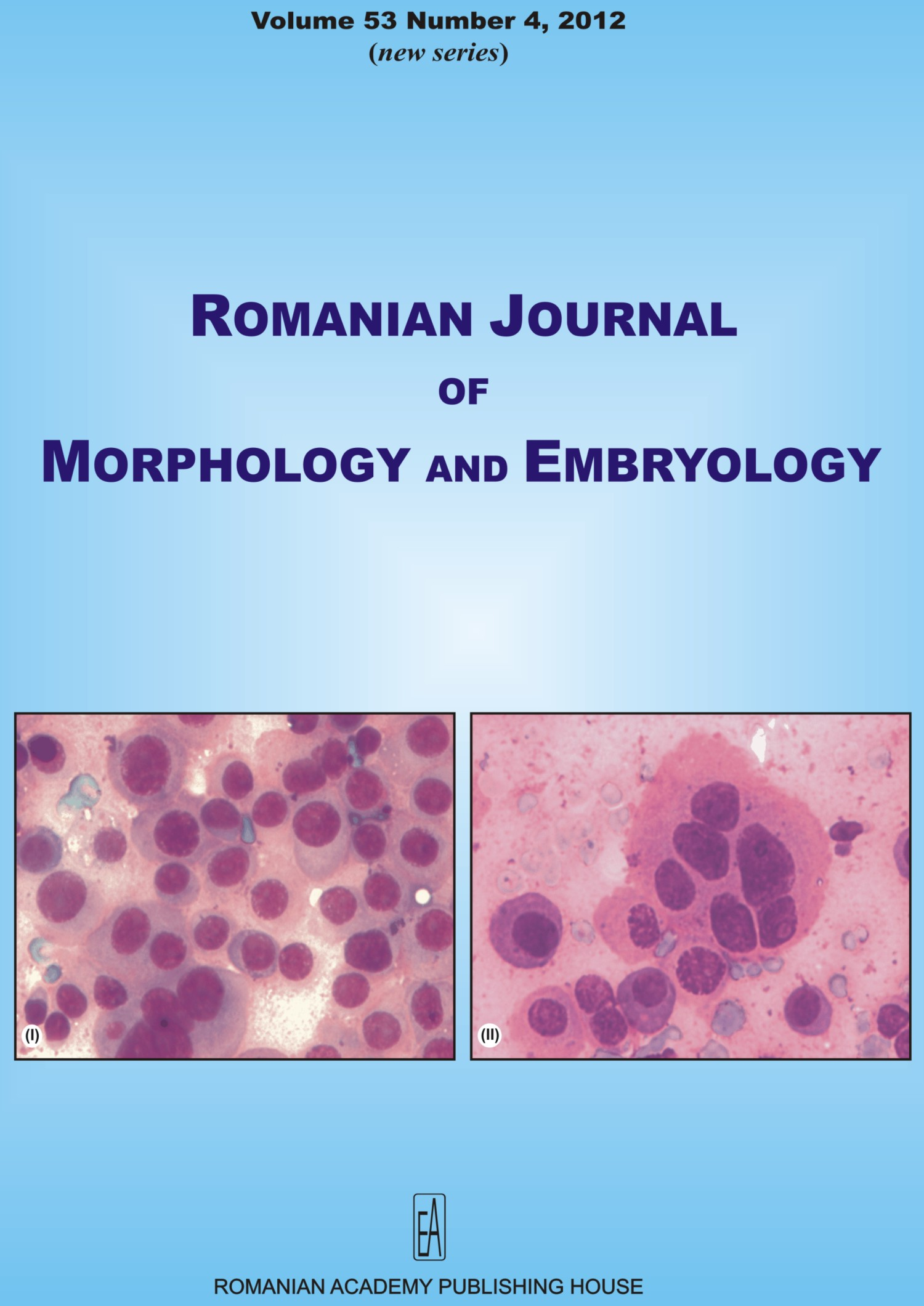 Romanian Journal of Morphology and Embryology, vol. 53 no. 4, 2012