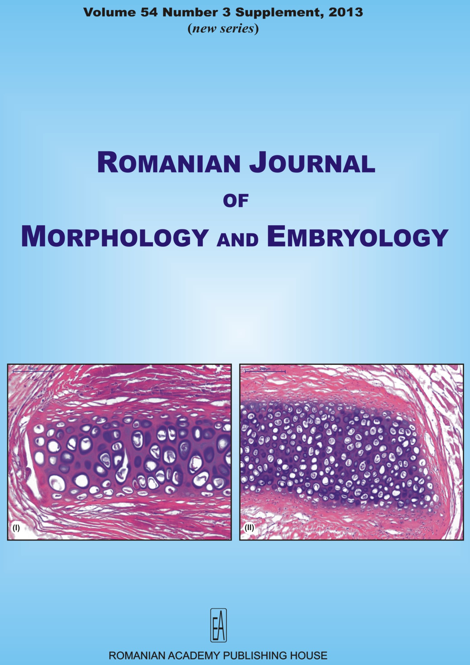 Romanian Journal of Morphology and Embryology, vol. 54 no. 3Suppl, 2013
