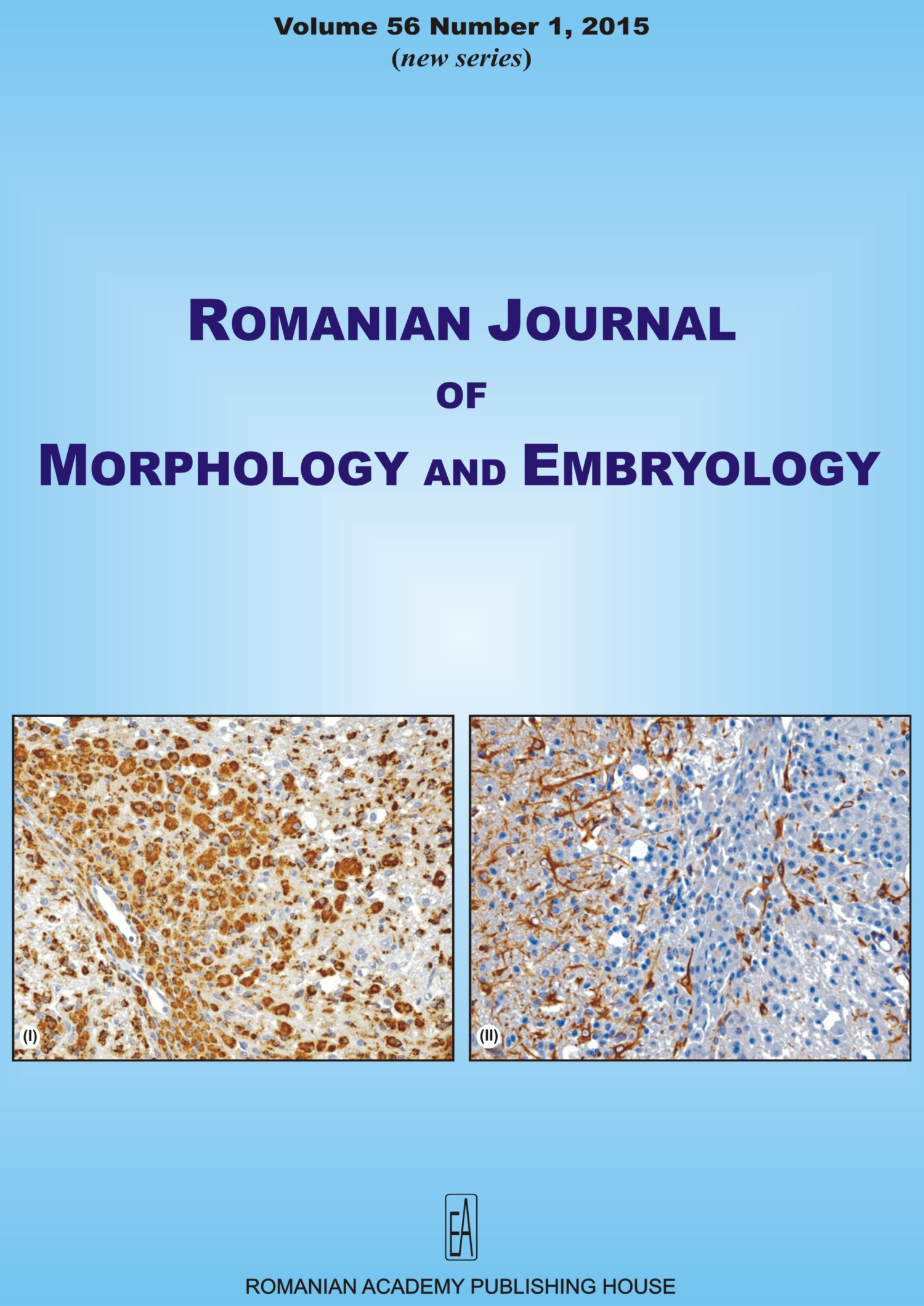 Romanian Journal of Morphology and Embryology, vol. 56 no. 1, 2015