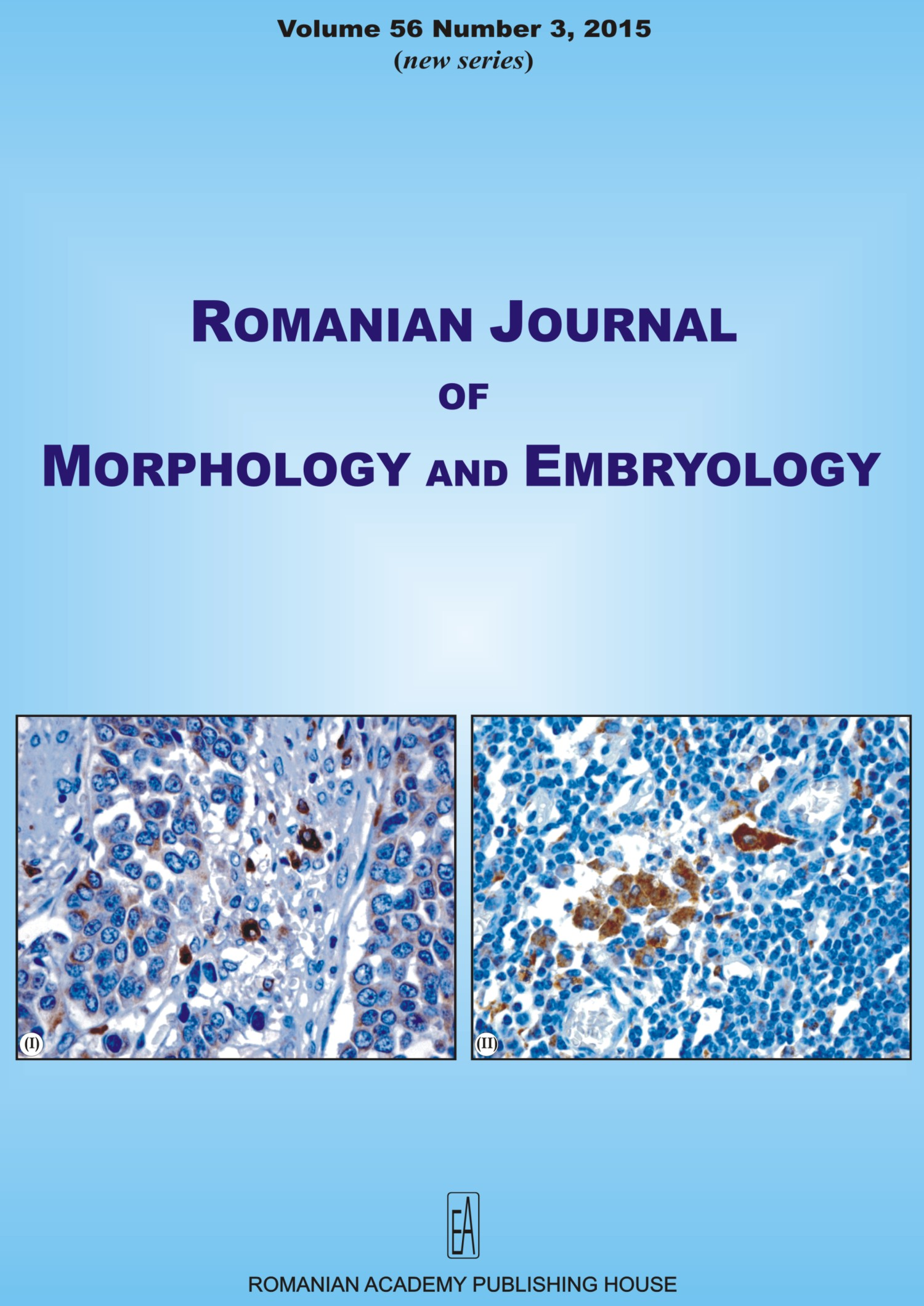 Romanian Journal of Morphology and Embryology, vol. 56 no. 3, 2015