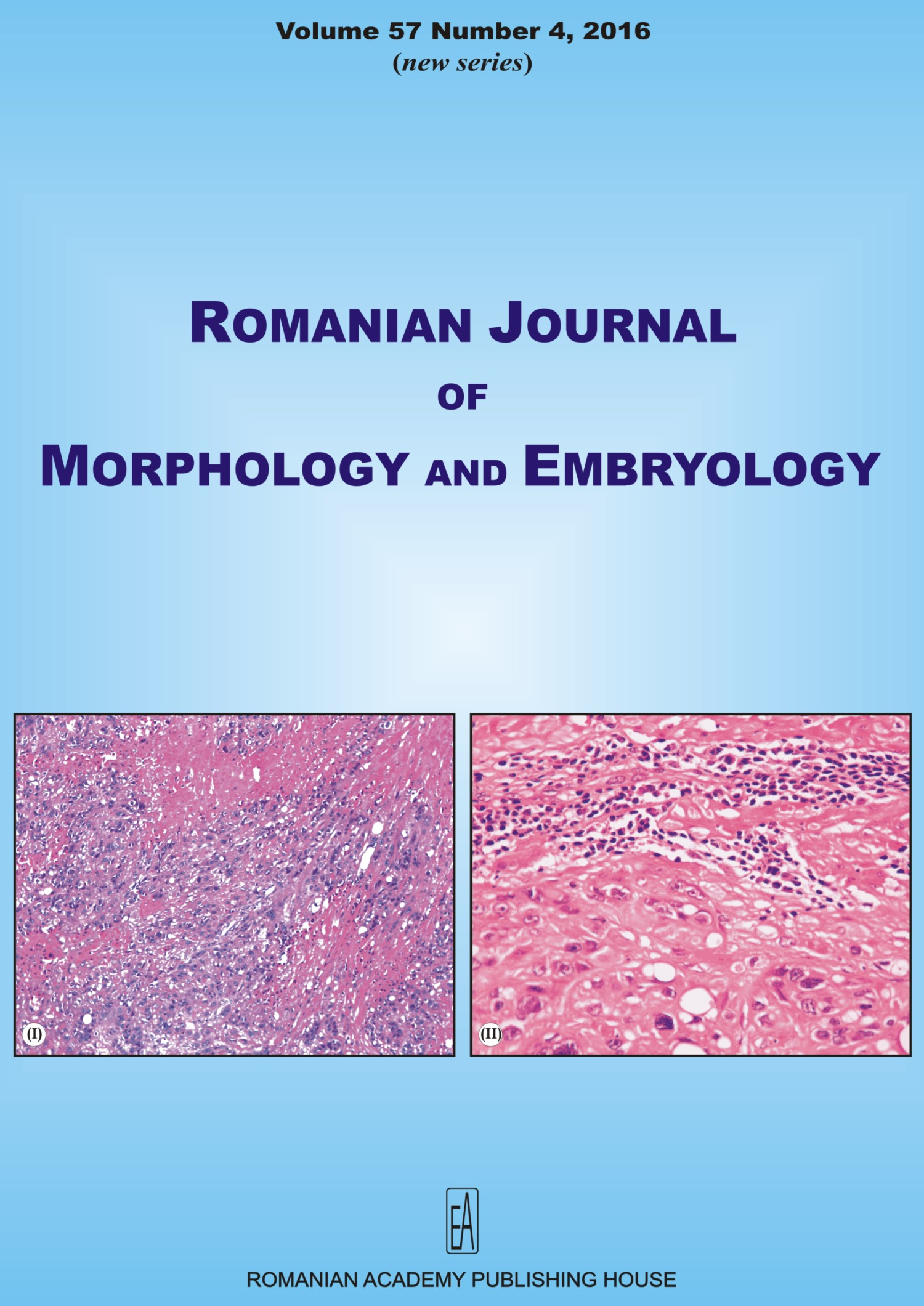 Romanian Journal of Morphology and Embryology, vol. 57 no. 4, 2016